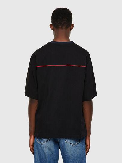 Diesel - T-DELPHIVY-SLITS, Negro - Camisetas - Image 2