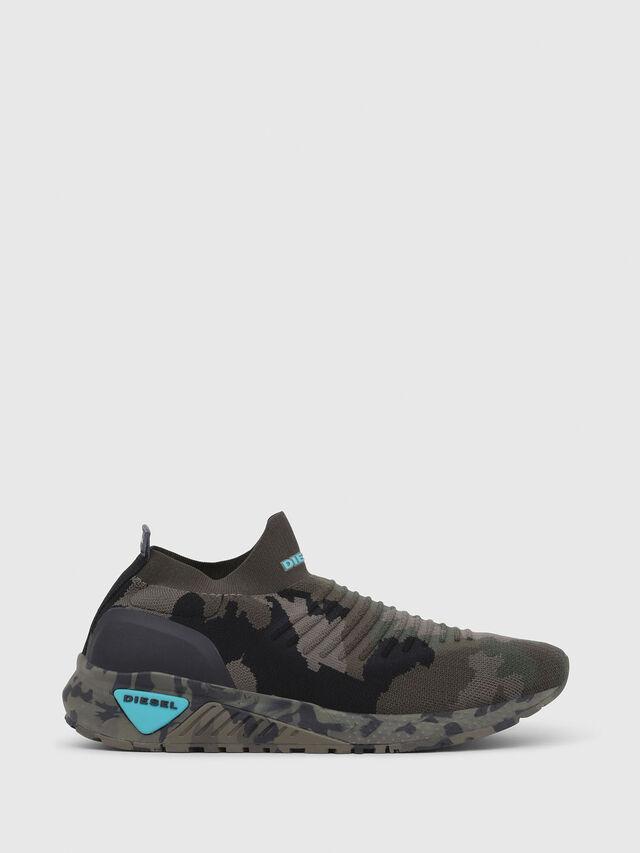 Diesel - S-KB ATHL SOCK, Verde Camuflaje - Sneakers - Image 1