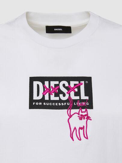 Diesel - T-SILY-E52, Blanco - Camisetas - Image 3