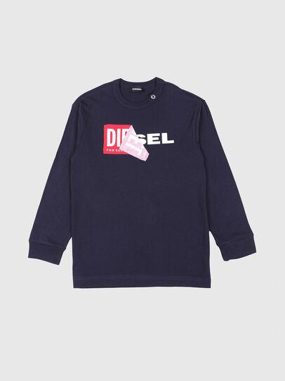 Diesel - TEDRI OVER, Azul Marino - Camisetas y Tops - Image 1