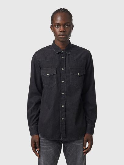 Diesel - D-EAST-P1, Negro - Camisas de Denim - Image 1