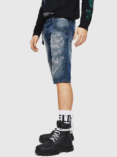 Diesel - D-KROOSHORT JOGGJEANS, Azul medio - Shorts - Image 4