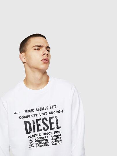Diesel - S-GIR-B5, Blanco - Sudaderas - Image 3