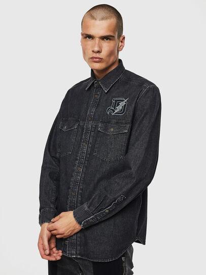 Diesel - D-BANDY-B, Negro - Camisas de Denim - Image 1