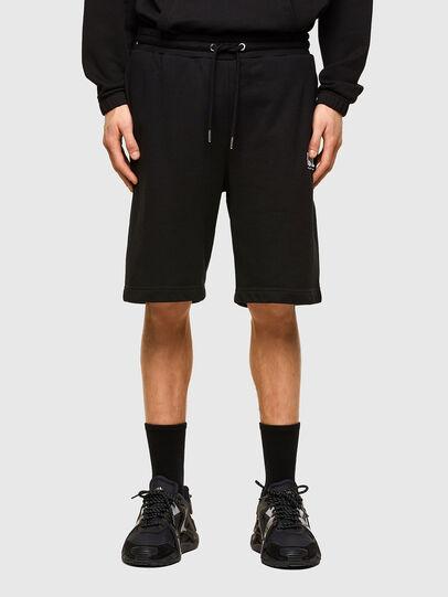 Diesel - P-CROWN-LOGO, Negro - Shorts - Image 1