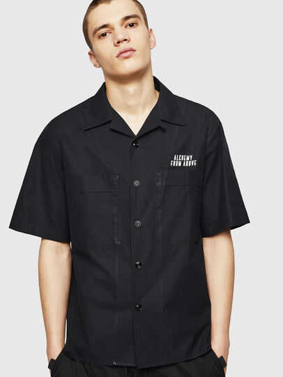 Diesel - S-KULKOV, Negro - Camisas - Image 1