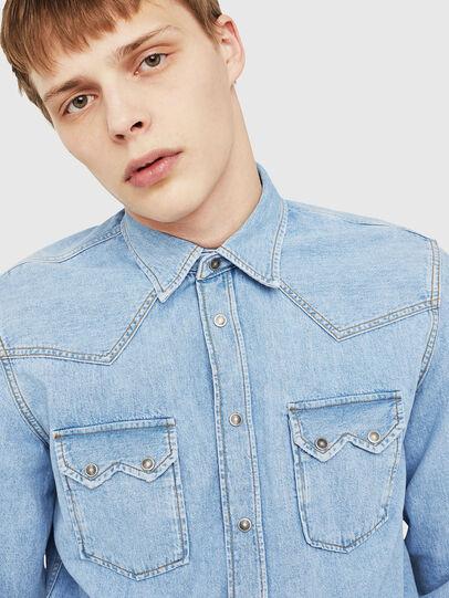 Diesel - D-LEO, Blue Jeans - Camisas de Denim - Image 4