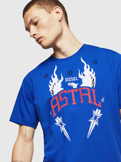 Diesel - T-JUST-A5, Azul Brillante - Camisetas - Image 3