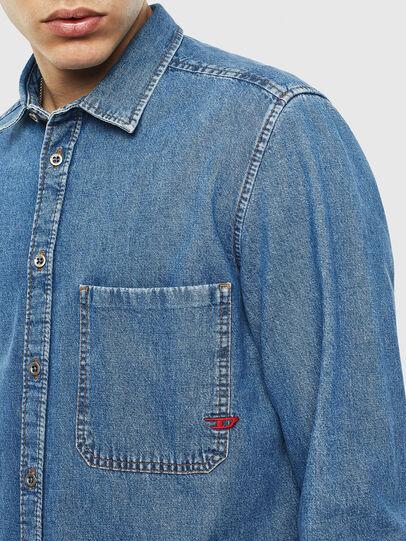Diesel - D-BER-P, Blue Jeans - Camisas de Denim - Image 3