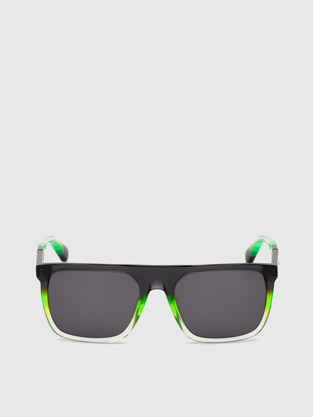 DL0299, Negro/Verde - Gafas de sol
