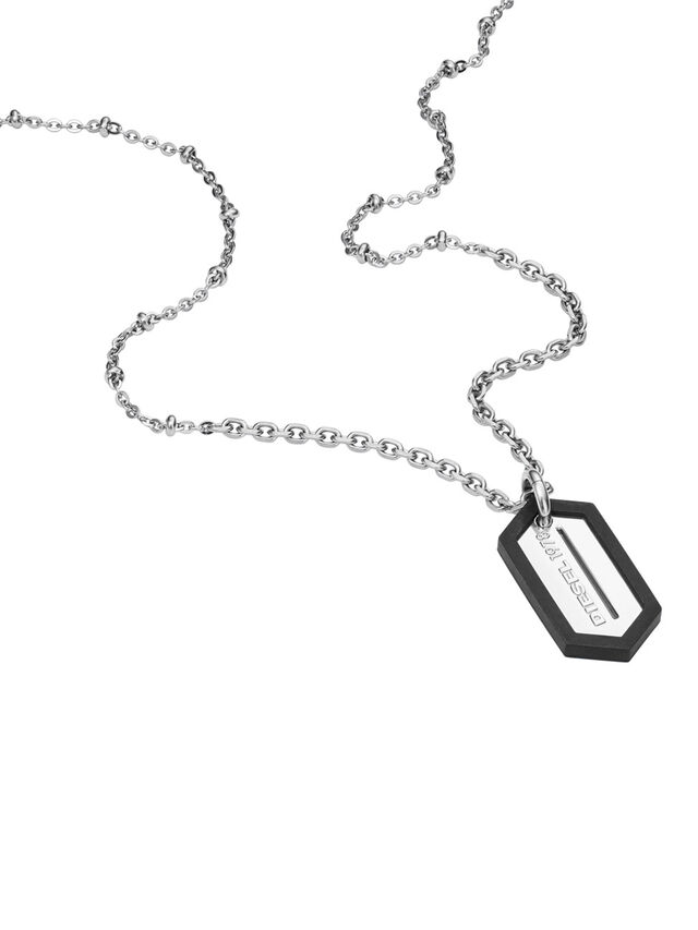 Diesel - NECKLACE DX0995, Plata - Collares - Image 2