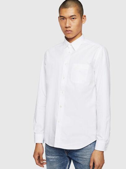 Diesel - S-MOI-R-BW, Blanco - Camisas - Image 1