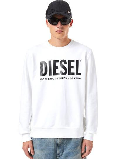 Diesel - S-GIRK-ECOLOGO, Blanco - Sudaderas - Image 1