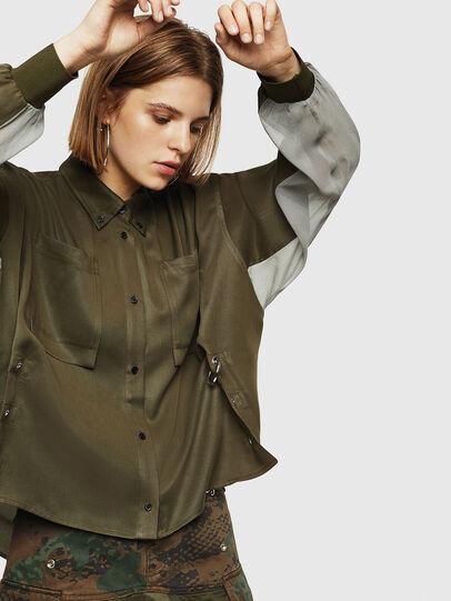 Diesel - C-LEXYS, Verde Militar - Camisas - Image 5
