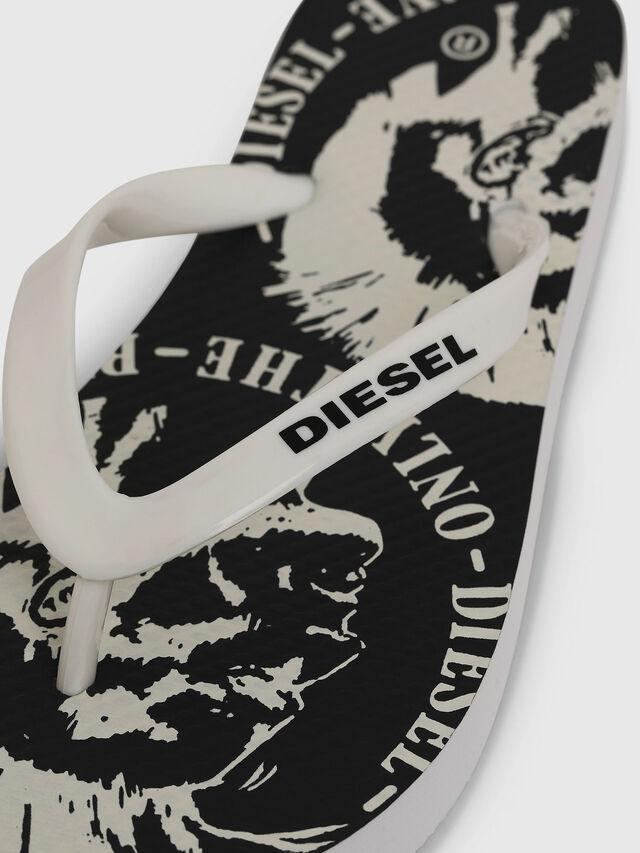Diesel - FF 22 FLIPPER YO, Blanco/Negro - Calzado - Image 3