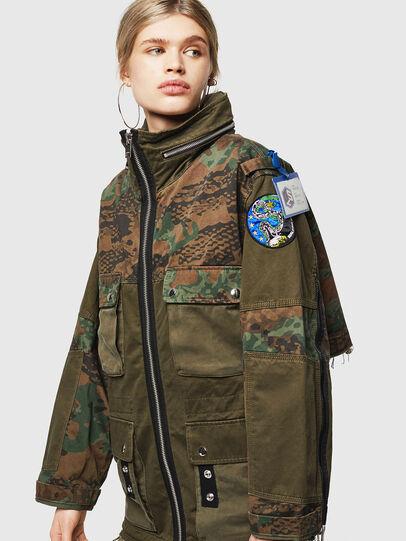 Diesel - G-LEE-C, Verde Militar - Chaquetas - Image 1