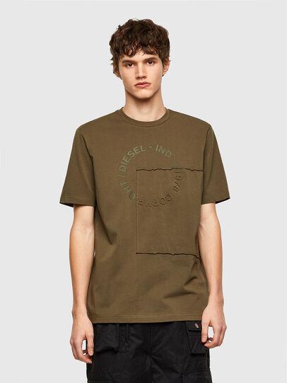 Diesel - T-JUSTEMB, Verde Militar - Camisetas - Image 1