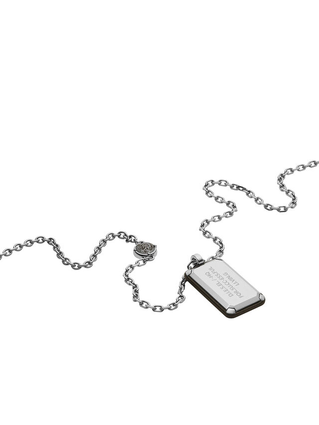Diesel - NECKLACE DX1019, Plata - Collares - Image 2