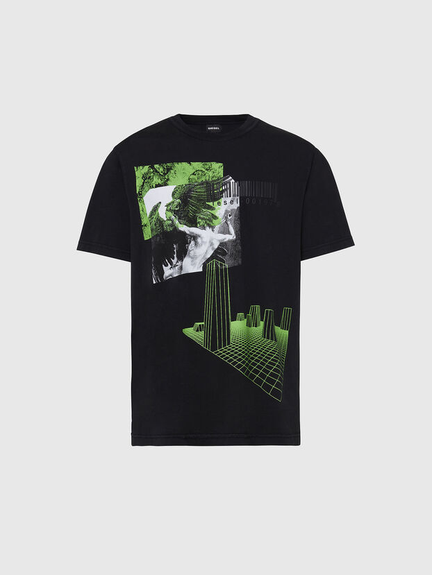 T-JUBIND-SLITS, Negro - Camisetas