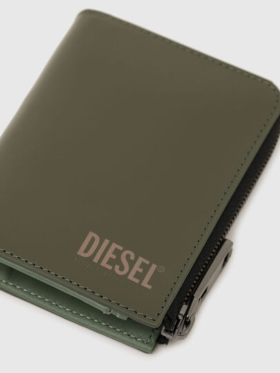 Diesel - L-12 ZIP, Verde Oliva - Carteras Con Cremallera - Image 5