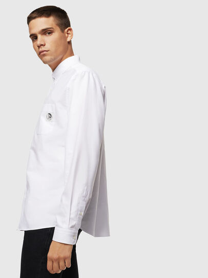 Diesel - S-JAMES, Blanco - Camisas - Image 4
