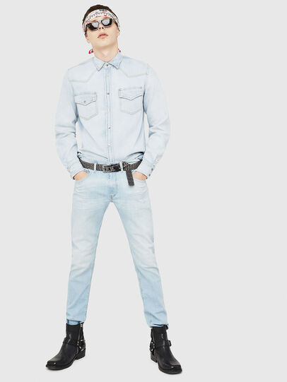 Diesel - D-EAST-P, Blue Jeans - Camisas de Denim - Image 5