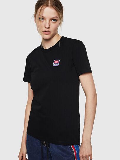 Diesel - T-SILY-ZE, Negro - Camisetas - Image 1
