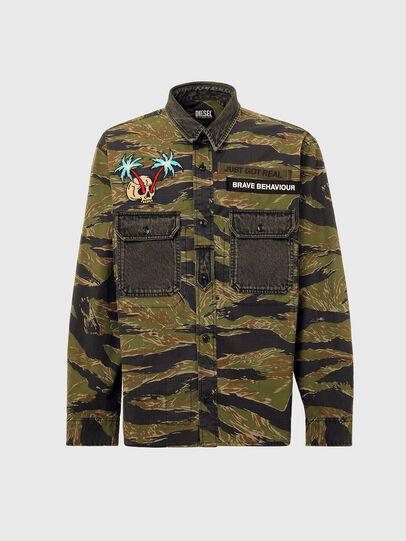 Diesel - S-BUNNELL-CMF, Verde Militar - Camisas - Image 6