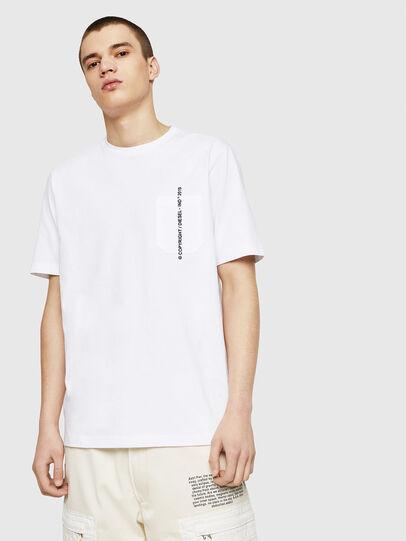Diesel - T-JUST-POCKET-COPY, Blanco - Camisetas - Image 1