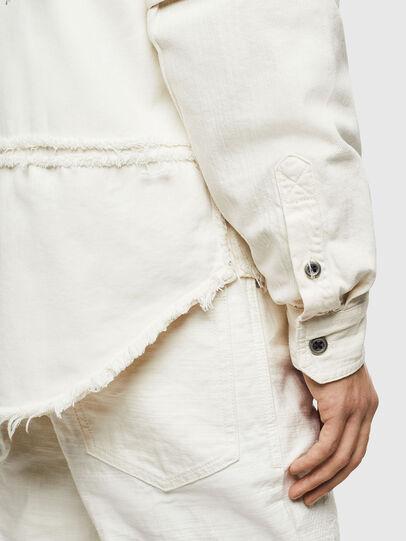 Diesel - D-KURTIS, Blanco - Camisas de Denim - Image 4