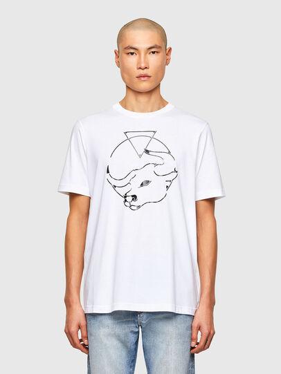 Diesel - CL-T-JUST-O, Blanco - Camisetas - Image 1