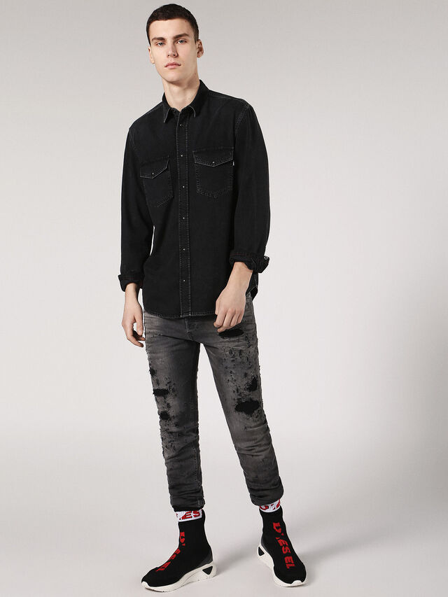 Diesel - D-ROOKE, Black Jeans - Camisas de Denim - Image 4
