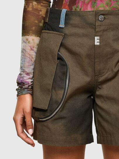 Diesel - S-JANE, Verde Militar - Shorts - Image 3