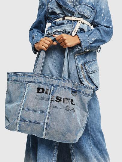 Diesel - D-THISBAG SHOPPER L, Azul Claro - Bolsos Shopper y Al Hombro - Image 7