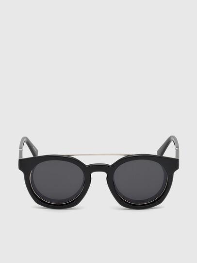 Diesel - DL0251, Negro Brillante - Gafas de sol - Image 1