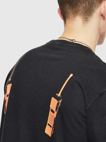 Diesel - T-JUST-T12, Negro - Camisetas - Image 5