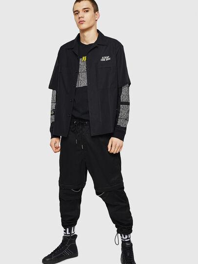 Diesel - T-JUST-LS-NEW, Negro - Camisetas - Image 5