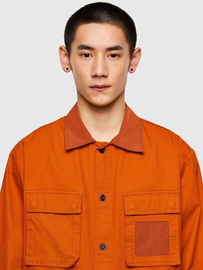 Diesel - S-GUNN-LS, Naranja - Camisas - Image 3