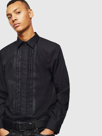 Diesel - S-PLIS, Negro - Camisas - Image 4