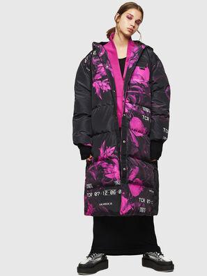 W-DORYN-B, Negro/Rosa - Chaquetones de invierno