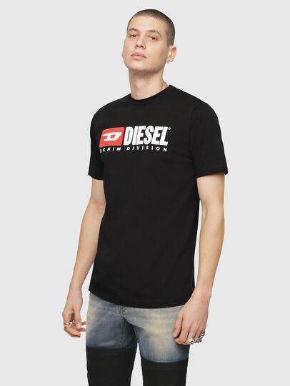 Diesel - T-JUST-DIVISION, Negro - Camisetas - Image 1
