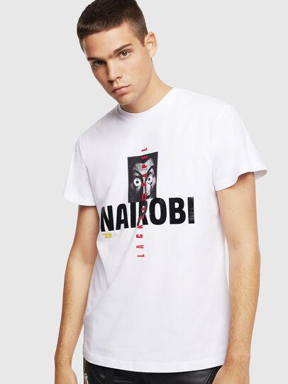 Diesel - LCP-T-DIEGO-NAIROBI, Blanco - Camisetas - Image 1