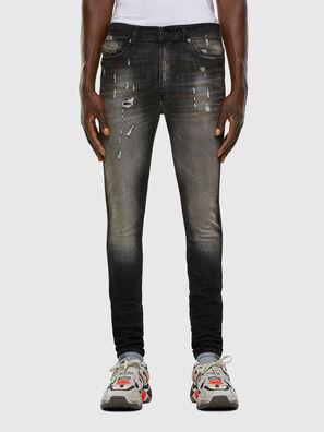 D-Reeft JoggJeans 009FX, Negro/Gris oscuro - Vaqueros