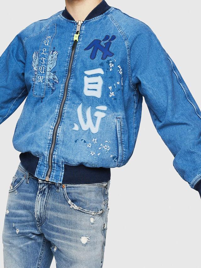 Diesel - D-BAK, Blue Jeans - Chaquetas de denim - Image 4