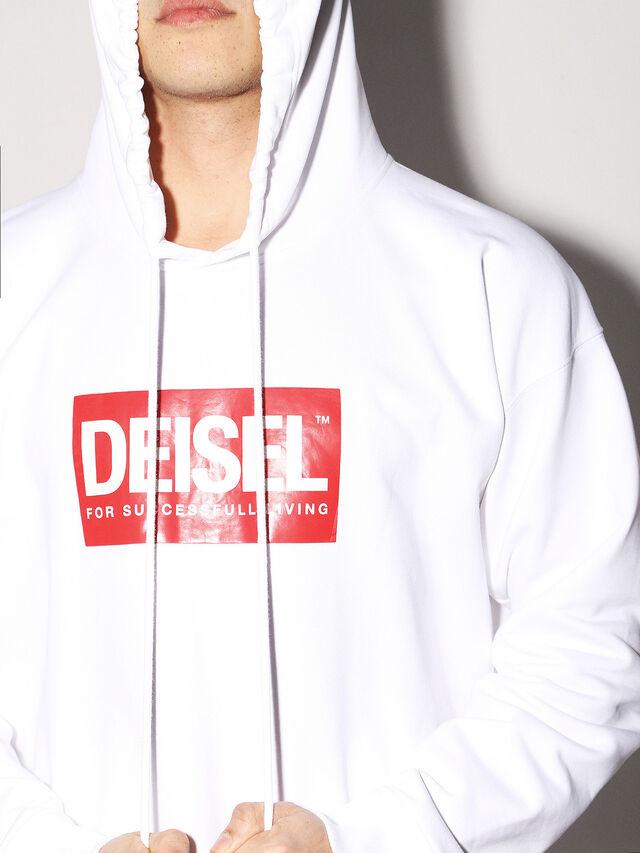 Diesel - DEIS-SHOOD, Blanco - Sudaderas - Image 6