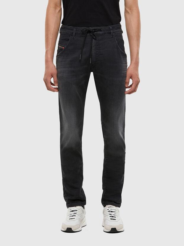 Krooley JoggJeans 009KD, Negro/Gris oscuro - Vaqueros