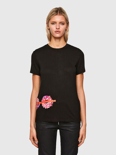 Diesel - T-SILY-R7, Negro - Camisetas - Image 1