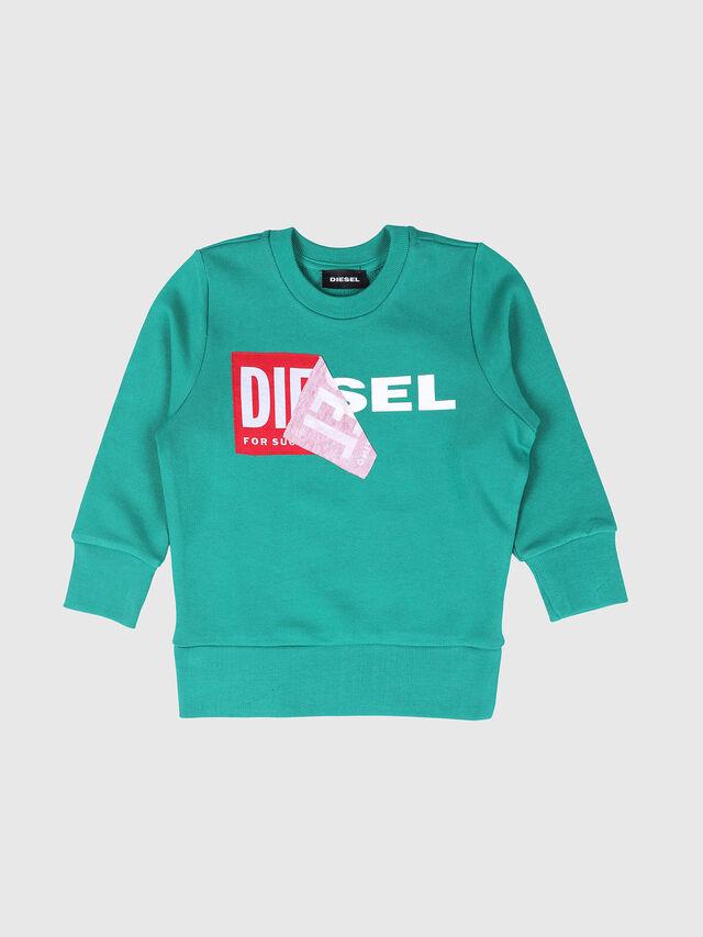 Diesel - SALLIB-R, Verde Agua - Sudaderas - Image 1