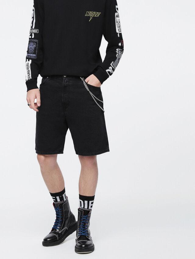 Diesel - D-WILLOH, Negro - Shorts - Image 1