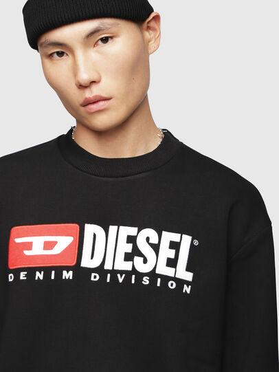 Diesel - S-CREW-DIVISION, Negro - Sudaderas - Image 3